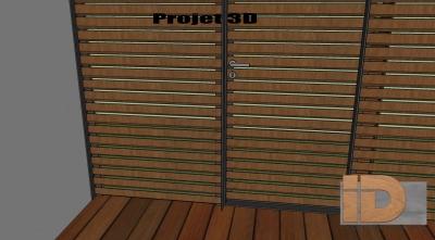 Proposition du projet en 3D des persiennes