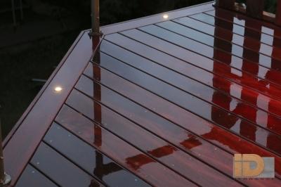 Terrasse en Padouk avec éclairage